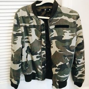 Missguided  Camo Bomber Jacket
